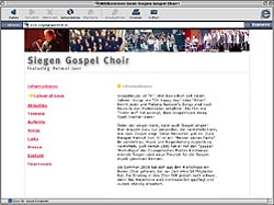 WebSite Siegen Gospel Choir